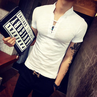 Men's Fashion Korean Slim Men Short Sleeve T-shirts [6849198147]