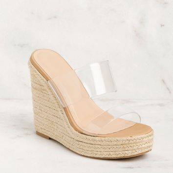 Heaven Sent Clear Band Wedges