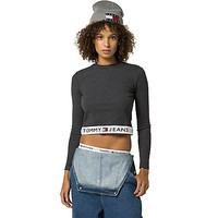 Tommy Jeans Cropped Long-Sleeve Tee | Tommy Hilfiger USA