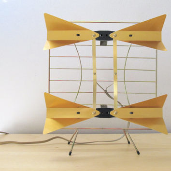 1960 television antenna with orange bunny ears