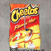 Flamin Hot Cheetos - Custom Sublimated Socks - Socktimus Prime