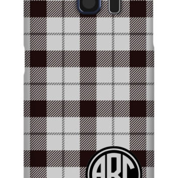 Plaid Monogram Galaxy S6 Slim Case