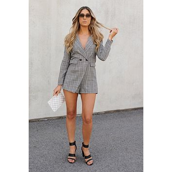 Risky Business Romper (Olive)