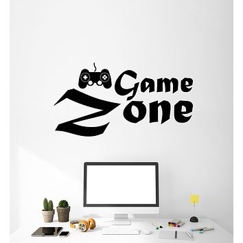 Vinyl Wall Decal Game Zone Joystick Gaming Playroom Stickers Mural (g3100)
