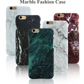 Hot Selling Fashion Hard PC Marble Phone Cases for iPhone 5 5s SE 6 6S 6 7 Plus Ultra-thin Back Cover for 5 5s 6 6s 7 7Plus