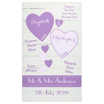 Wedding Backdrop Photo Booth Purple Banner
