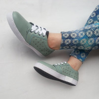 mint leather shoes soft green handmade Marapulai sneakers US 9.5 women