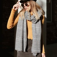 Glen Plaid Oblong Scarf