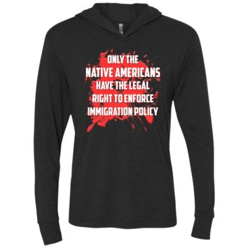 Defend DACA Dreamers Unisex Triblend Long Sleeve Hooded T-Shirt