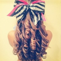 I'm not complete unless there's a cheer bow in my hair<3