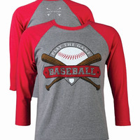 Southern Couture Lightheart Baseball Raglan Long Sleeve T-Shirt