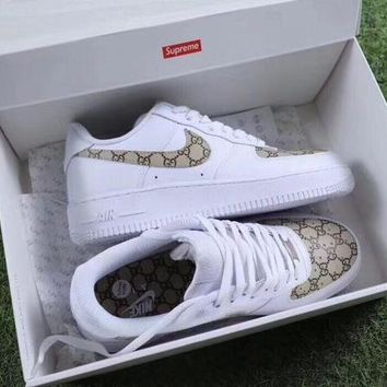 Nike Air Force 1 Low NYC SOHO x Gucci Casual Running Sport Shoes Sneakers