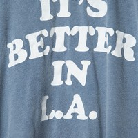 Margie It's Better In LA Top - Brandy Melville