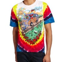 Liquid Blue Men's Grateful Dead Summer Tour Bus T-Shirt, Multi, Small