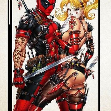 Harley Quinn and Deadpool  X0510 iPad 2 3 4, iPad Mini 1 2 3, iPad Air 1 2 , Galaxy Tab 1 2 3, Galaxy Note 8.0 Cases