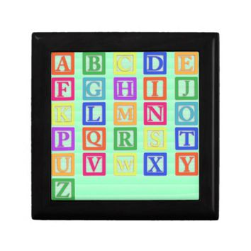 Block Letters Gift Box