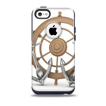 The Nautical Captain's Wheel with anchors Skin for the iPhone 5c OtterBox Commuter Case