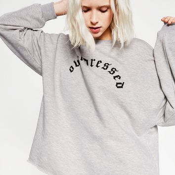 TEXT PRINT SWEATSHIRT