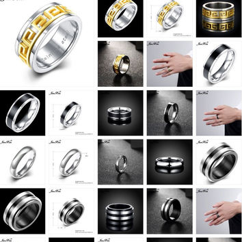 Steel Rings for Men and Women - Casual, Wedding or Engagement. High Quality