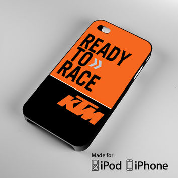 ready to race ktm A0472 iPhone 4S 5S 5C 6 6Plus, iPod 4 5, LG G2 G3, Sony Z2 Case