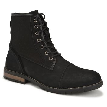 Jachs New York Men's Dylan Military Styled Fabric Cap Toe Boot