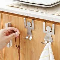 Unique 2Pcs Stainless Steel Kitchen Organizer Tool Hanger
