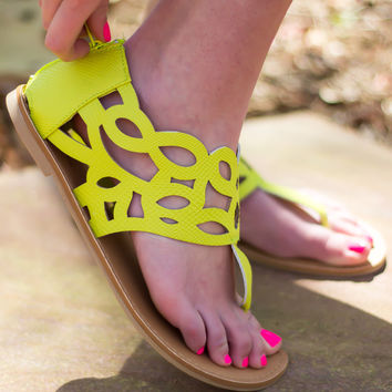 Lemon Lime Love Sandals - Final Sale