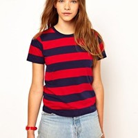 White Chocoolate Bold Stripe T-Shirt at asos.com