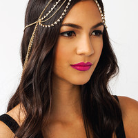 Diamonds-N-Chains-Layered-Headpiece GOLD - GoJane.com