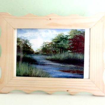 Collectible Painting, River Lathkill by Helen Clark, Table Decor