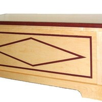 Maple w/Inlayed Purple Heart Hope Chest - Handmade Crafts by My Chaos by Design
