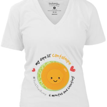 6 Months/24 Weeks Pregnant-Monthly Pregnancy Milestones-Maternity Tee-Baby Shower Gift- 2nd Trimester