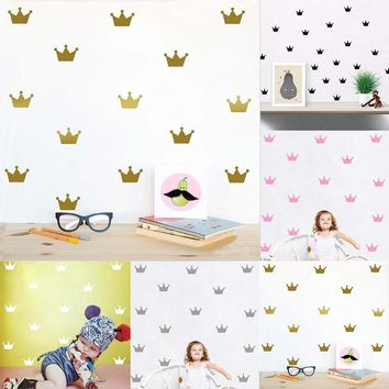 15PCS/Set Crown Wall Sticker Princess Baby Girls Wall  Pattern Wall Paste Sticker For Kid's Bedroom Decor New Arrival Fashion