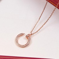 8DESS Cartier Diamonds Women Fashion Plated Chain Necklace
