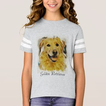 Golden Retriever Girls Tshirt