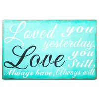 Turquoise Love You Always Wall Plaque | Hobby Lobby | 961581
