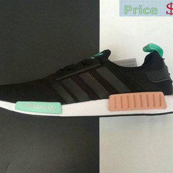 Sneaker paint Adidas NMD R1 BB4296 Black Jade Green shoe