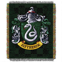Exclusive Slytherin Crest Tapestry Throw | WBshop.com | Warner Bros.