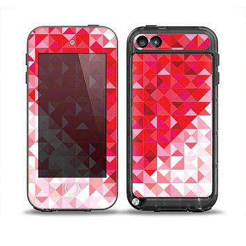 The Geometric Faded Red Heart Skin for the iPod Touch 5th Generation frē LifeProof Case