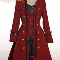 Pirate Lolita/Gothic Prince/Ouji High Collar Unisex Coat