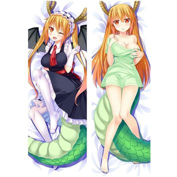 Amellor Anime Kobayashi-san Chi no Maid Dragon Dakimakura Case pillow covers sexy Life- sized Body Hugging Pillow Case gitfs