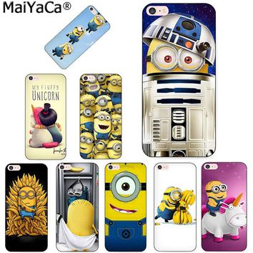 MaiYaCa Minion Banana cute anime Unique Luxury Hard Silicon phone case for  iPhone 8 7 6 6S Plus X XS MAX XR 5 5S SE 5C Cover
