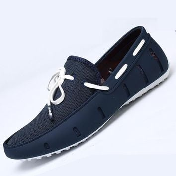 2016 Designer Boat Shoes Men Breathable TPU Moccasins