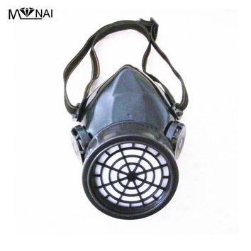 Steampunk Black Cyber Respirator 1 Canister 1 Valve Rave Mask Industries Goth Punk Alternative Goggles