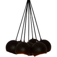Handmade Pendant Light Chandelier Edison Restoration Industrial style Globes PANTON Fabric cables EGST