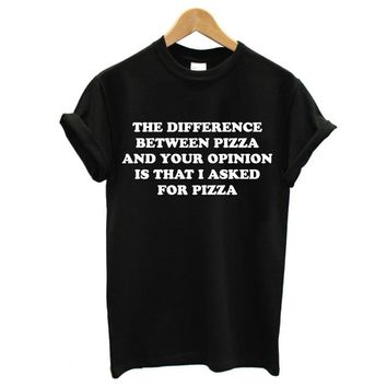 PIZZA T SHIR WOMEN FUNNY TUMBLR SWAG FASHON Female T-Shirt Summer 2018 Funny Food Tshirt Cotton TEE Tops T-F10426