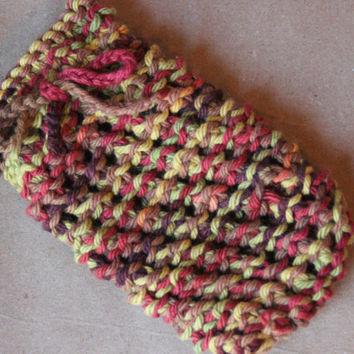 Knitted Cotton Multi-Colored Soap Sock Soap Saver