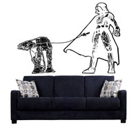 Dark Side Evolution Darth Vader Star Wars ATAT Death Star Storm Trooper Wall Art Wall Decals Wall Stickers tr167