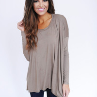 Solid High-Low top- Mocha