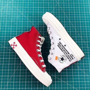 Off-White x Converse Chuck Taylor 70s Red White